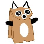 Racoon Puppet - Picture With Credit to Enchanted Learning