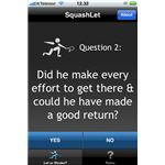 SquashLet iPhone App