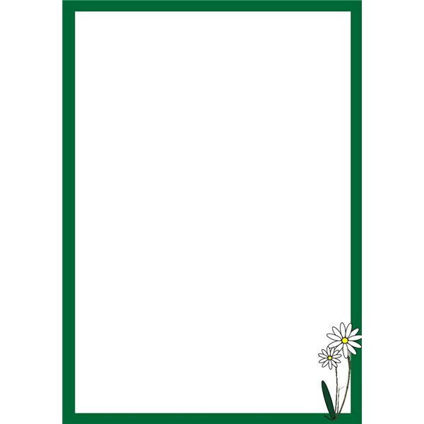 Decorative Daisy Border