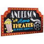 Home Theater Accessories: Theater Sign