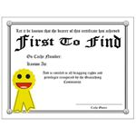 Geocache Printables: Certificate