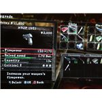 The weapon upgrade screen in Resident Evil 5.