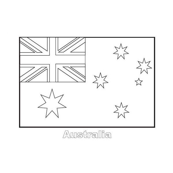 australia flag these flag coloring pages - Flags World Coloring Pages