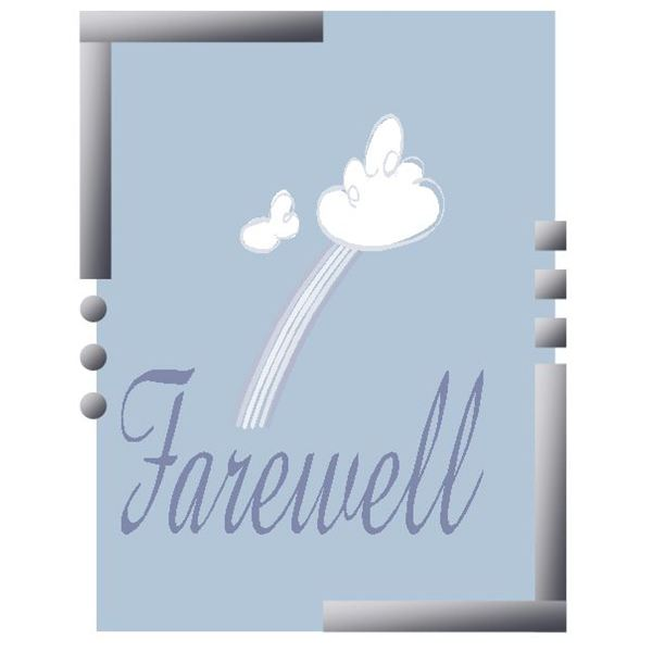 Simple Farewell Card Template