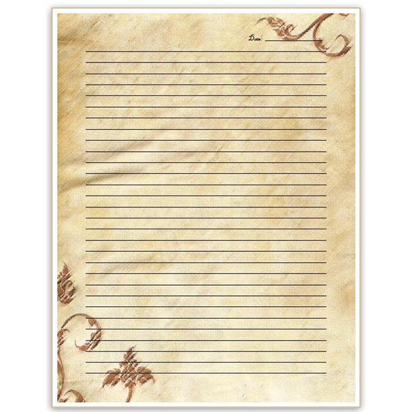 Superior Parchment Background Journal Page In Free Journal Templates