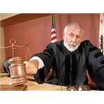 Judge Using His Gavel by IXQUICK
