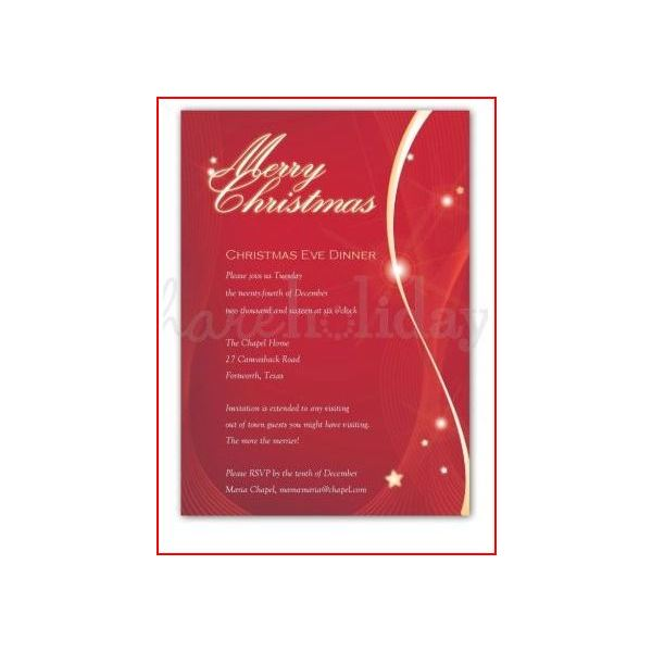 Christmas iIvitation Phrases to Reflect the Intended Atmosphere of – Christmas Eve Party Invitation Wording