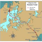 Panama Canal Rough Diagram