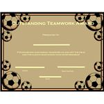Reward good teamwork with this Outstanding Teamwork Award