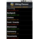 Hiking Planner Android App