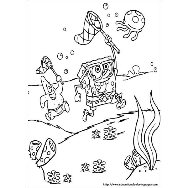spongebob jelly fishing educational spongebob coloring pages