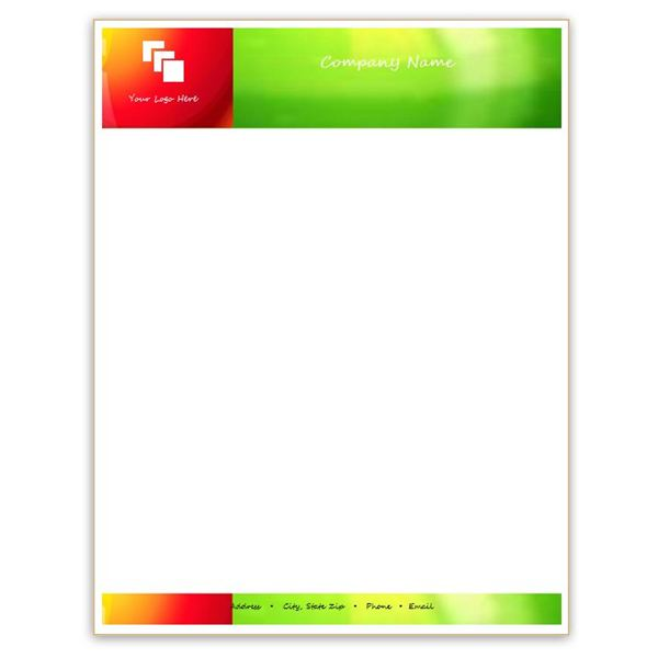 Glossy Letterhead Template  Free Business Stationery Templates For Word
