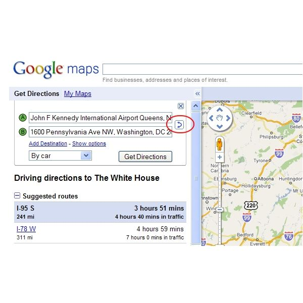 How to Get Driving Directions with Google Maps
