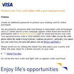 This seemingly genuine email from Visa is in fact a phishing attempt