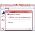 Fig 1 - Add a Local Printer - Cannot Install Network Printer on Windows 7