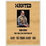 Reward for Capture Wanted Poster Template