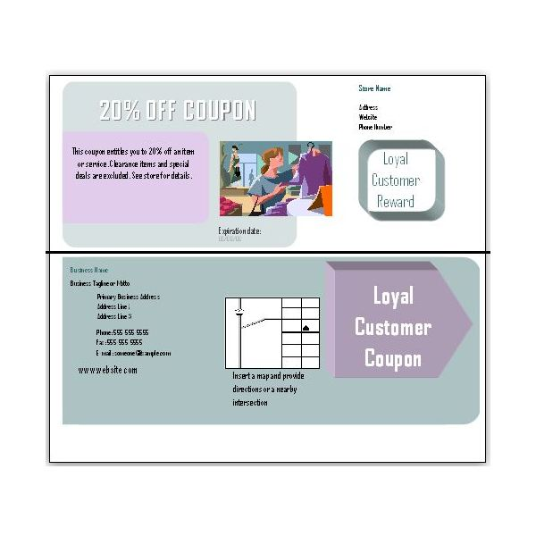 Coupon Templates For Download: Double Sided  Business Coupon Template