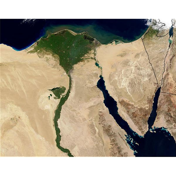 Nile River And Delta From Orbit Reef A