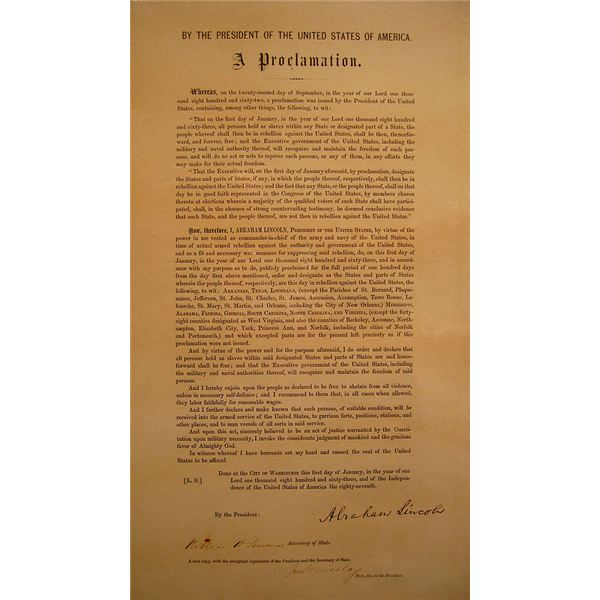 why is the emancipation proclamation important 512px emancipation proclamation typeset signed