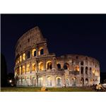 Colosseum at night - wide angle