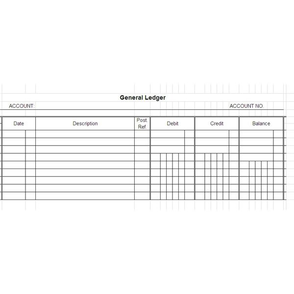 Free General Ledger Templates for Microsoft Excel – General Ledger Template