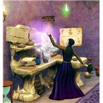 The Sims Medieval Wizard Crafting a Potion