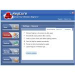 General Settings for RegCure Registry Cleaner