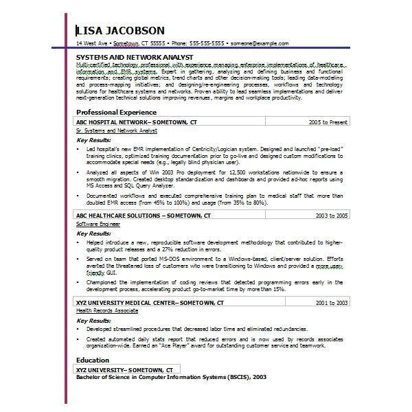 Chronological Resume Word2007