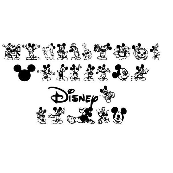 Disney dingbat fonts from scrapbookingfonts com image by michelle