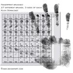 fingerprint brushes by chain