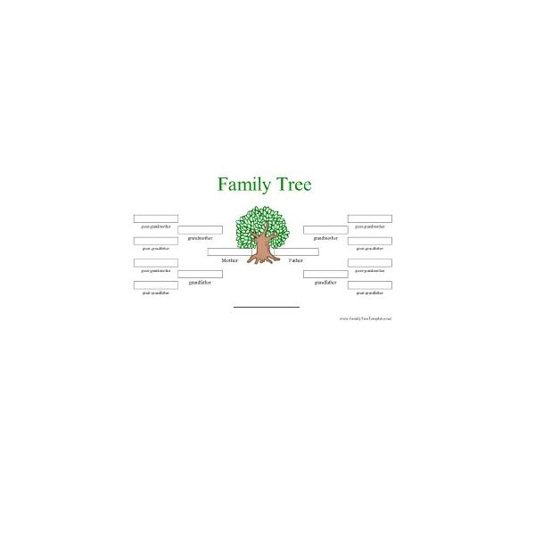 Free Printable Family Tree Templates Great Resources for – Blank Family Tree Template