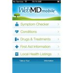 WebMD Screenshot