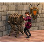 The Sims Medieval brewing wine