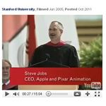 Screenshot TED Talk Steve Jobs at Stanford