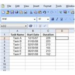 Sample Gantt Chart Data