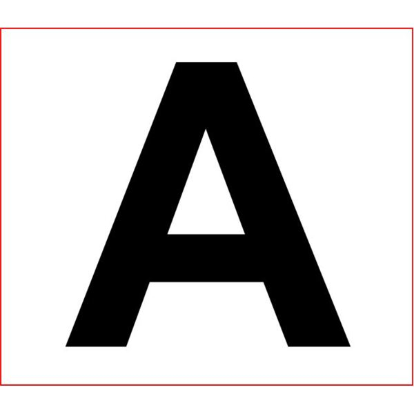 Satisfactory image in printable large letters
