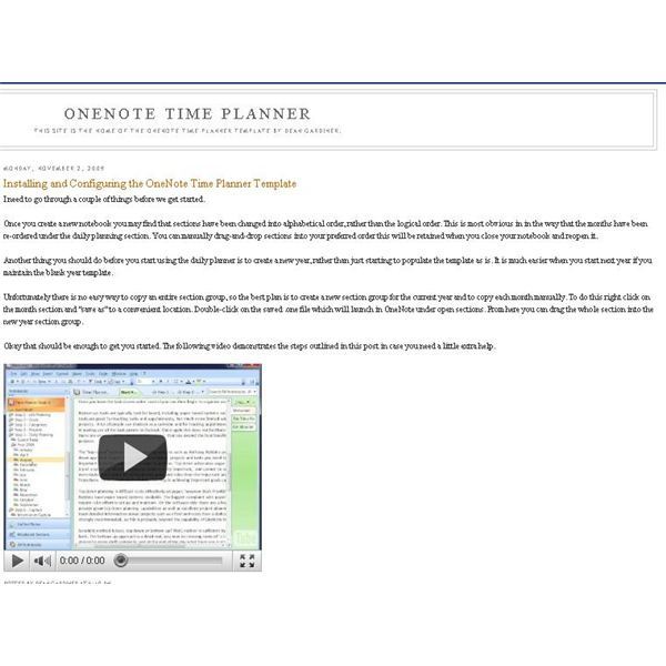 Choose a Daily Planner for OneNote