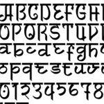 Faux Sanskrit font from Font dont com romanized sanskrit style typeface