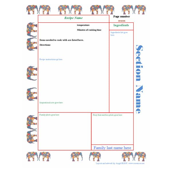Collection of free cookbook templates great layouts for for Free cookbook templates