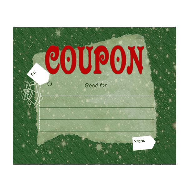 Christmas Coupon Printable  Christmas Coupons Template