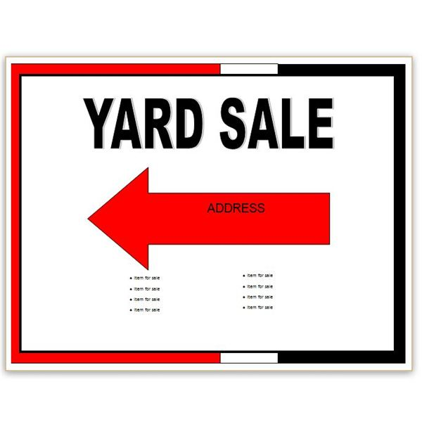 Yard Sale Flyer  Free Printable Flyer Templates