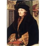 Portrait of Desiderius Erasmus of Rotterdam with Renaissance Pilaster