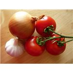 Garlic, Onions, and Tomatoes