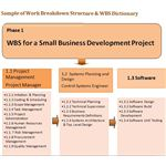 Sample Work Breakdown Structure for Phase 1 of a Business Development Project