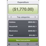Expenditure iPhone App