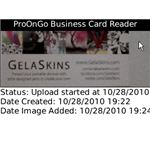 ProOnGo blackberry business card scan