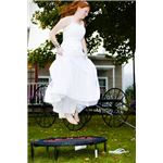 Bride on Trampoline