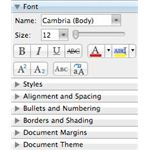 Format text in Microsoft Word for iMac