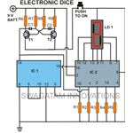 Electronic dice, Circuir Diagram, Image