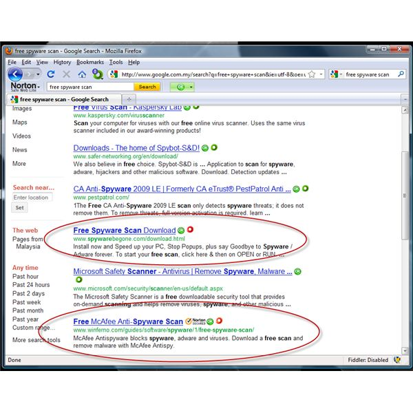 ... Links on Facebook and Internet Searches Using Norton Safe Web Lite